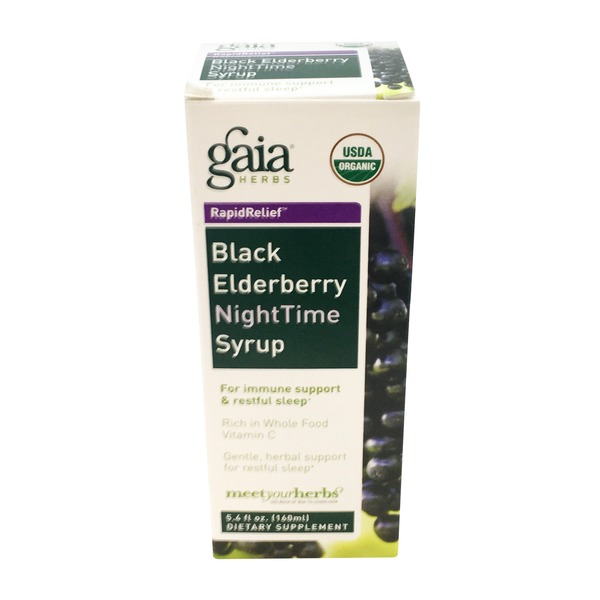 Gaia Herbs Black Elderberry Nighttime Syrup