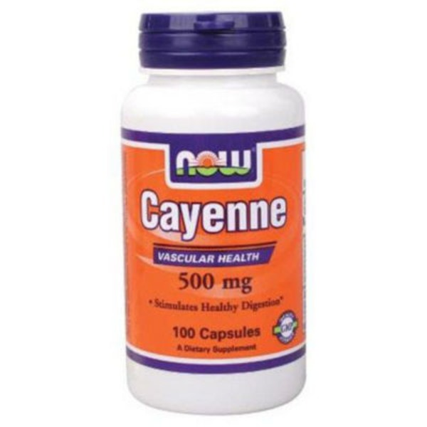 Now Cayenne Capsules 500 mg