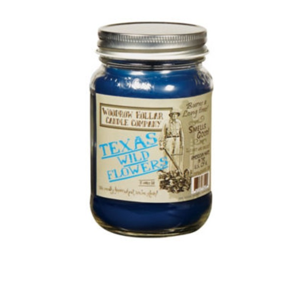 Woodrow Hollar Texas Wildflower 12 Oz. Candle Jar