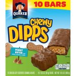 Quaker Chewy Dipps Peanut Butter Granola Bars, 1.05 oz, 10 count