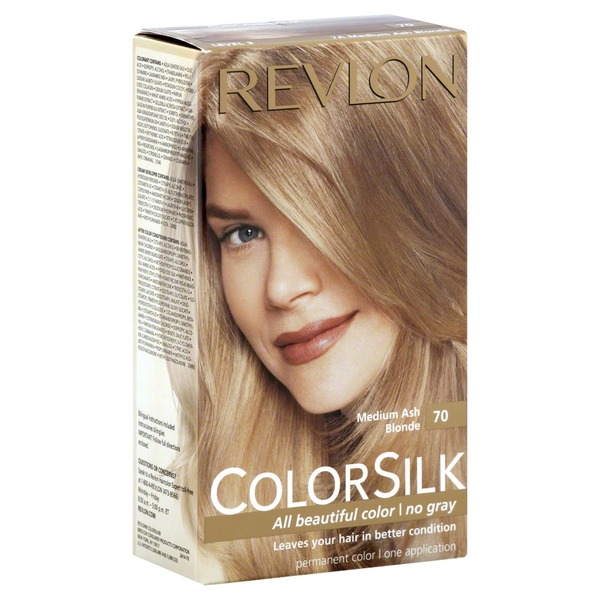 Revlon ColorSilk Ammonia-Free Medium Ash Blonde 70 Permanent Haircolor Level 3