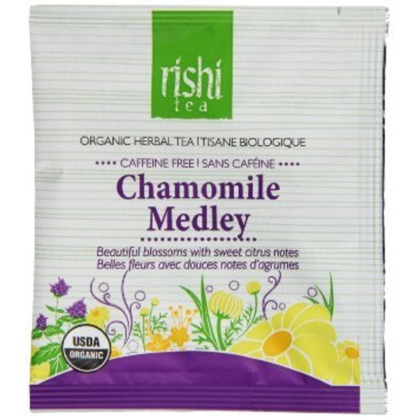 Rishi Tea Caffeine-Free Organic Herbal Tea Chamomile Medley
