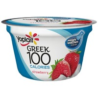 Yoplait Greek 100 Calories Strawberry Fat Free Yogurt