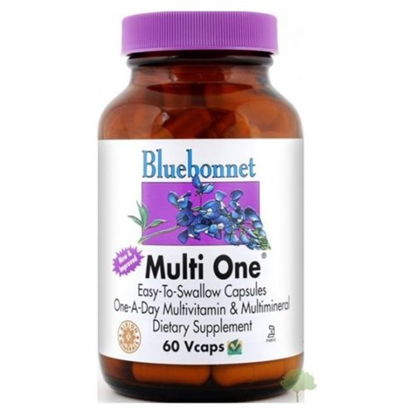 Bluebonnet Multi One Daily Multivitamin Vegetable Capsules