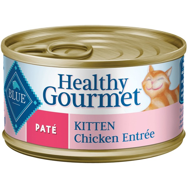 Blue Buffalo Cat Food, Moist, Kitten, Pate, Chicken Entree, Can
