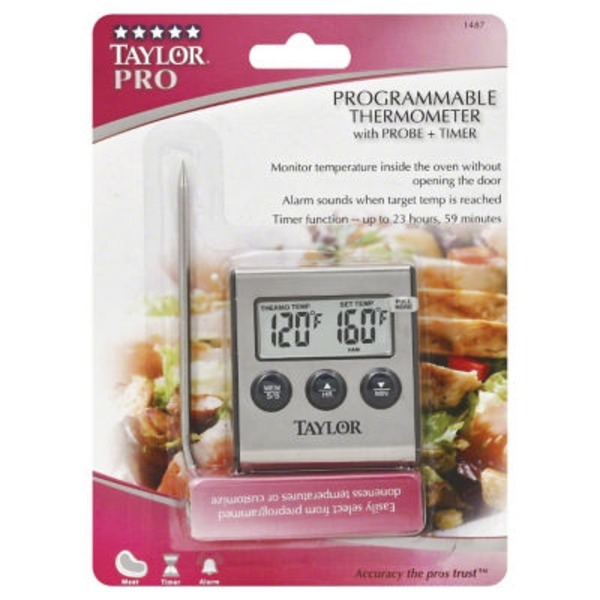 Taylor Pro Digital Cooking Thermometer With Probe