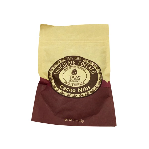 Taza 55% Dark Chocolate Covered Cacao Nibs
