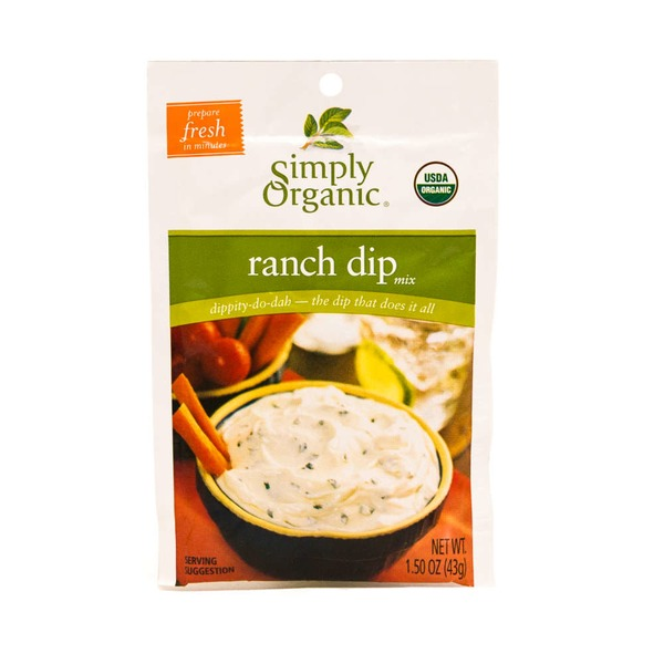 Simply Organic Certified Organic Ranch Dip Mix