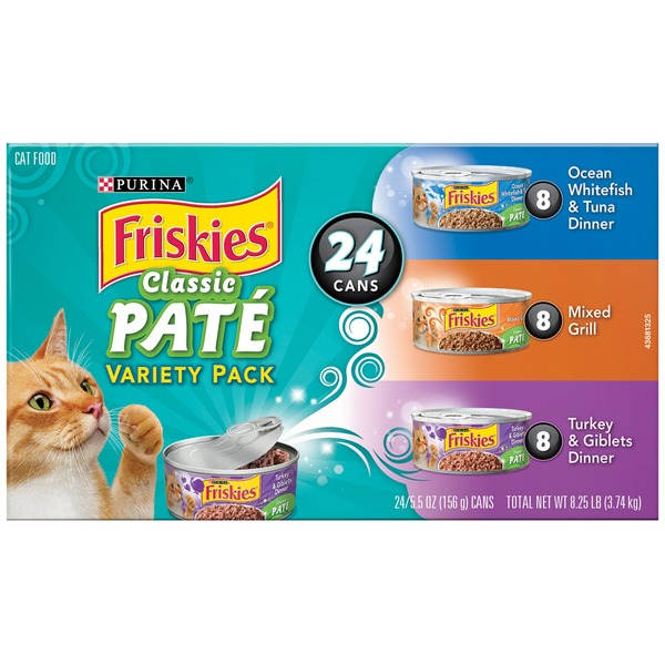 Friskies Classic Pate Variety Pack Cat Food