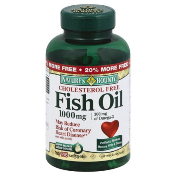 Nature's Bounty Fish Oil 1000 MG Rapid Release Softgels - 145 CT