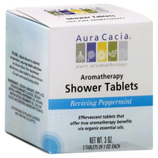 Aura Cacia Reviving Peppermint Aromatherapy Shower Tablets