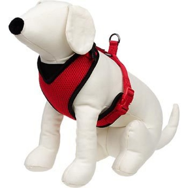 Petco Adjustable Mesh Harness For Dogs In Red & Black