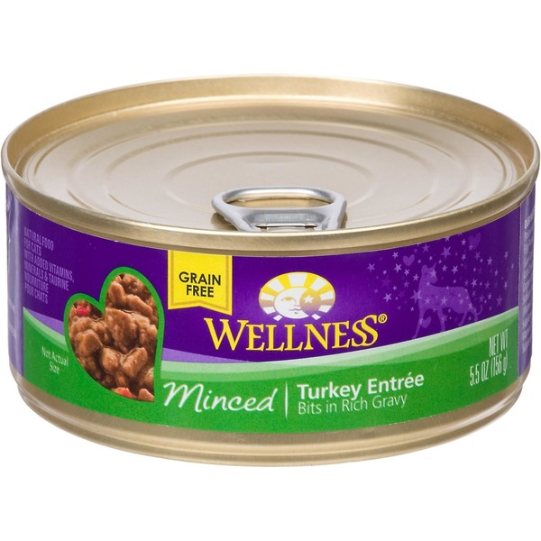Wellness Minced Canned Cuts Turkey Adult Canned Cat Food