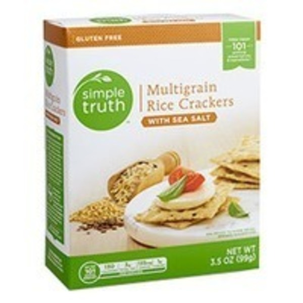 Simple Truth Multigrain Rice Crackers with Sea Salt