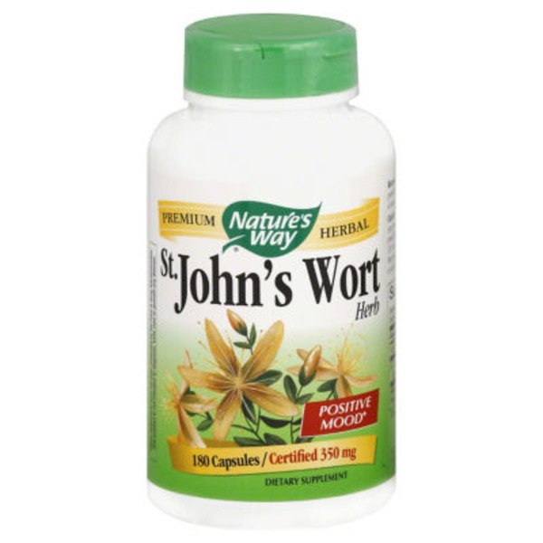 Nature's Way St. John's Wort, Herb, 350 mg, Capsules