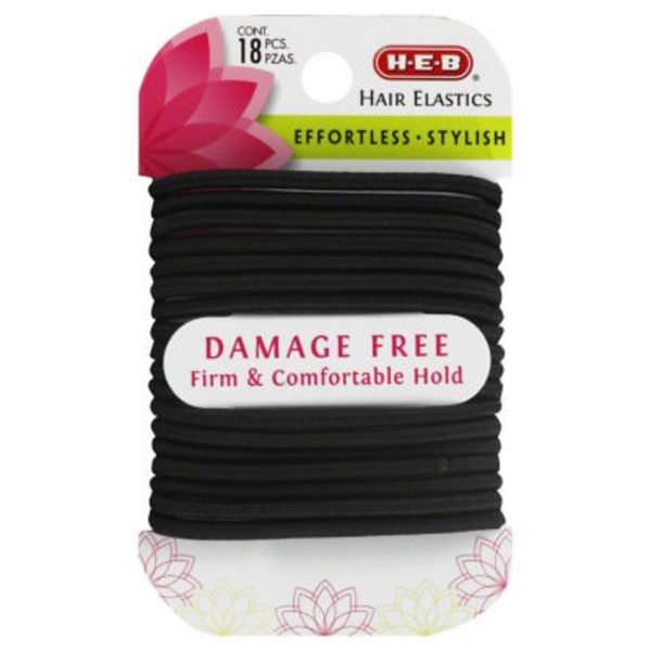 H-E-B Damage Free Black Hair Elastics