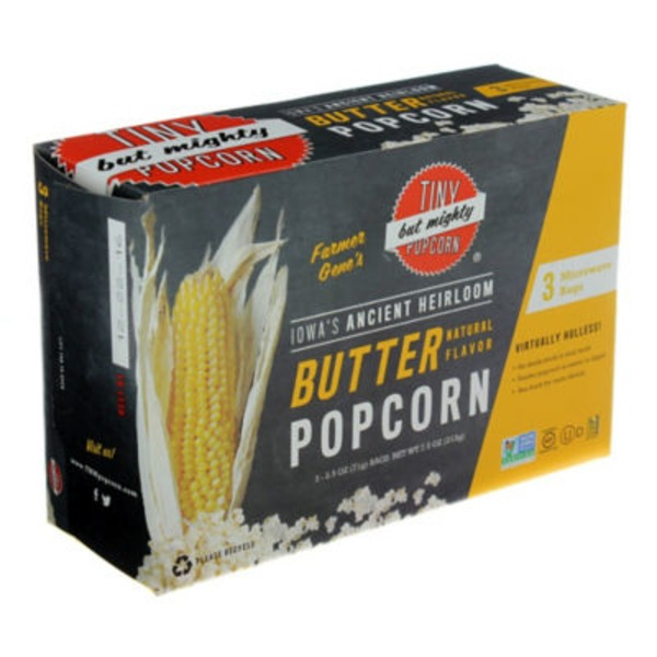 Tiny But Mighty Foods Microwave Butter Popcorn