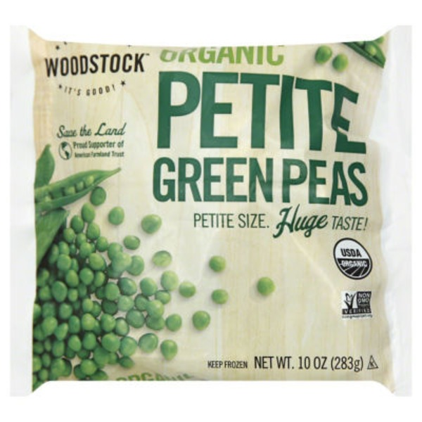 Woodstock Farms Green Peas, Organic, Petite