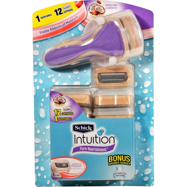 Schick Intuition Razor + 12 Cartridges