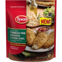 Tyson   Frozen Breaded Bagged Parmesan Herb Encrusted Chicken Strips