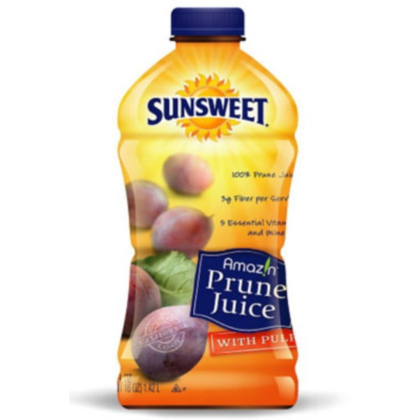 Sunsweet 100% Juice, Prune, with Pulp