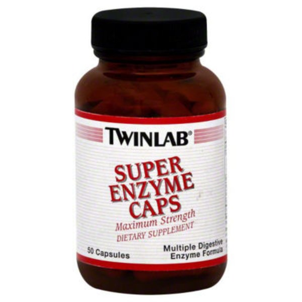 Twinlab Super Enzyme Caps, Maximum Strength, Capsules