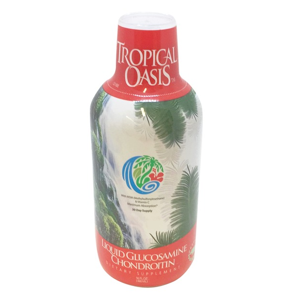 Tropical Oasis Liquid Glucosamine Chondroitin Dietary Supplement