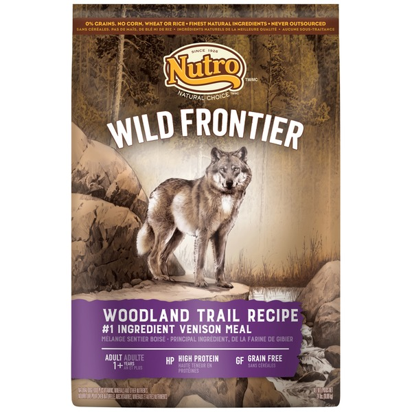 Nutro Wild Frontier Woodland Trail Recipe with Venison Meal Adult Dog Food