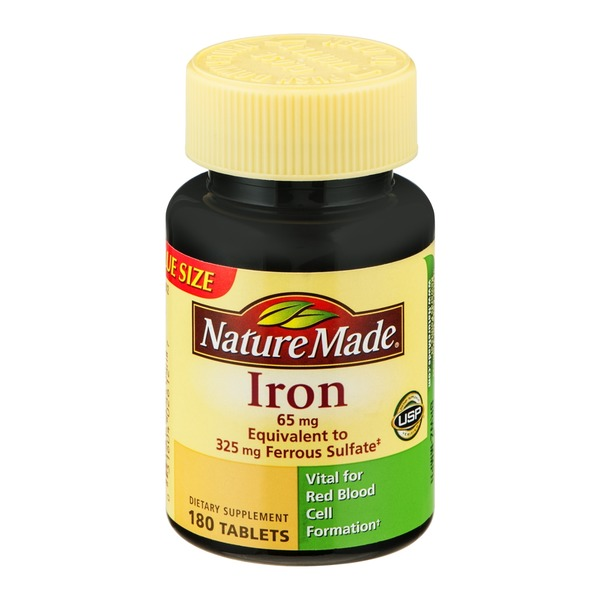 Nature Made Iron 65mg Tablets - 180 CT