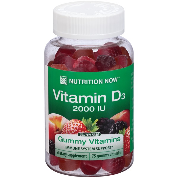 Nutrition Now Vitamin D3 2000 IU Dietary Supplement Gummy Vitamins