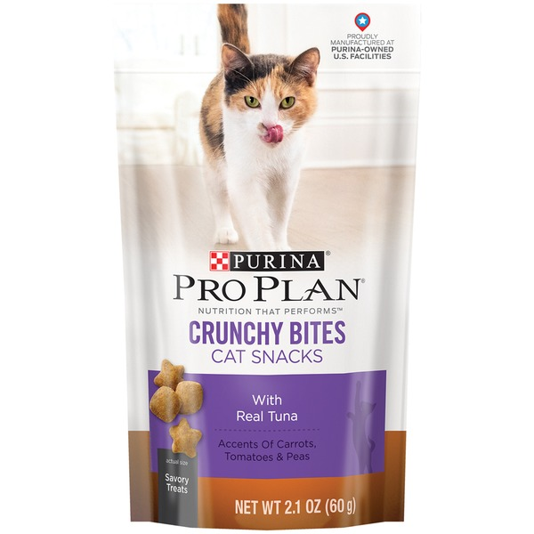 Pro Plan Cat Treats Crunchy Bites with Real Tuna Cat Snacks