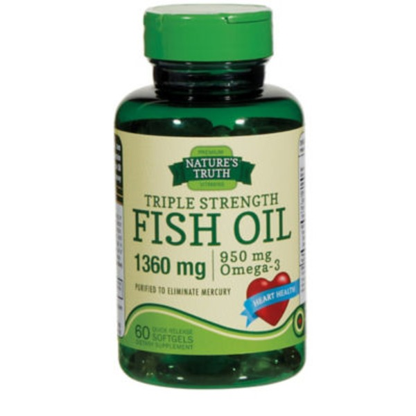 Nature's Truth Organic Triple Strength Fish Oil 1360mg Quick Release Softgels Dietary Supplement