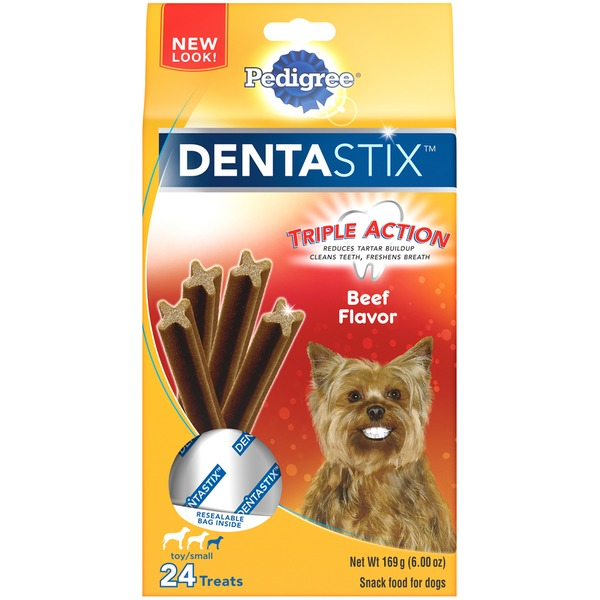 Pedigree Dentastix Beef Flavor Toy/Small Dog Treats
