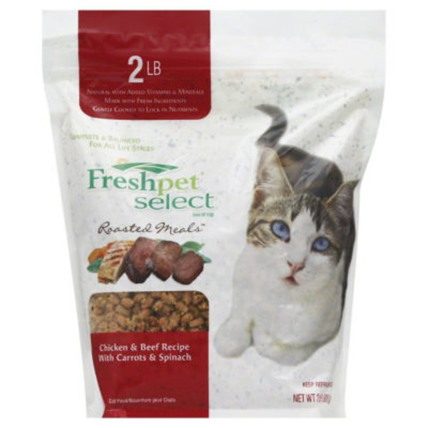 Freshpet Select Roasted Meals Cat Food Chicken & Beef Recipe With Carrots & Spinach