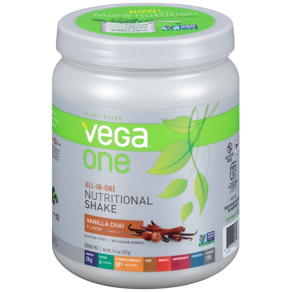 Vega One Vanilla Chai Nutritional Shake Drink Mix
