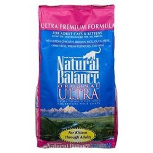 Natural Balance Original Ultra Whole Body Health Gluten Free Chicken Meal & Salmon Meal Formula Kittens To Adults Ultra Premium Cat Food
