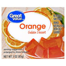 Great Value Gelatin Dessert, Orange, 3 oz