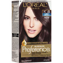 L'Oreal Paris Superior Preference Cools Anti-Brass Hair Color Kit 5C Cool Medium Brown