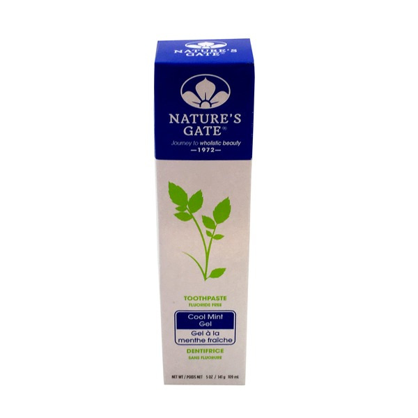 Nature's Gate Fluoride Free Cool Mint Gel Toothpaste