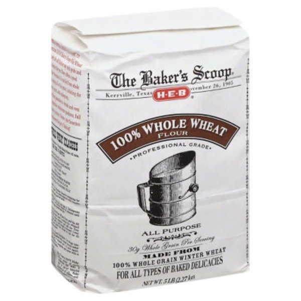 H-E-B Baker's Scoop 100% Whole Wheat Flour