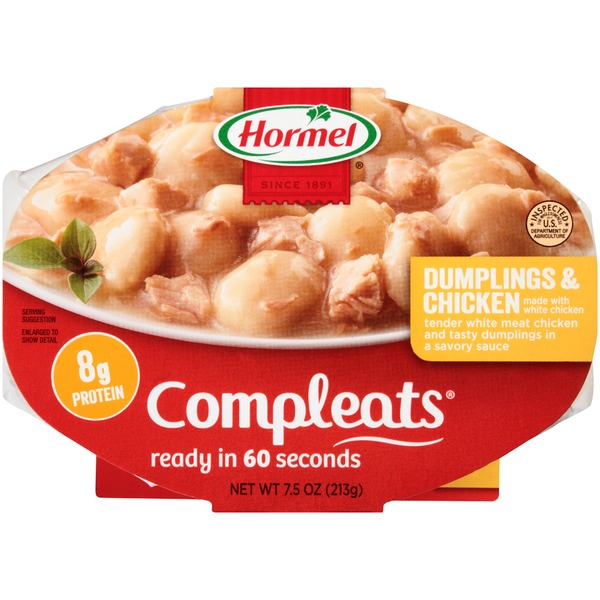 Hormel Dumplings & Chicken Compleats