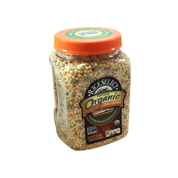 RiceSelect Tricolor Organic Pearl Couscous Pasta