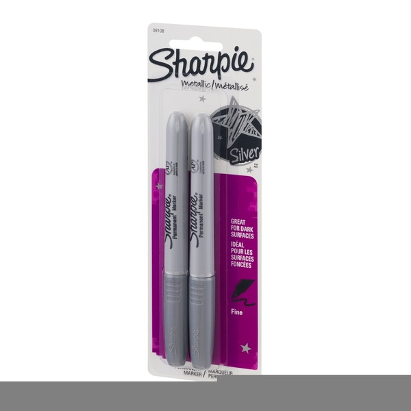 Sharpie Metallic Permanent Marker Fine - 2 CT