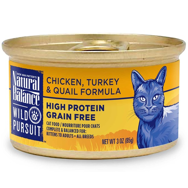 Natural Balance Chicken, Turkey & Quail Formula Cat Food
