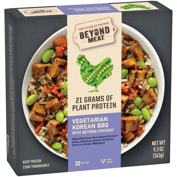 Beyond Meat Vegetarian Korean BBQ with Beyond Chicken Frozen Entree