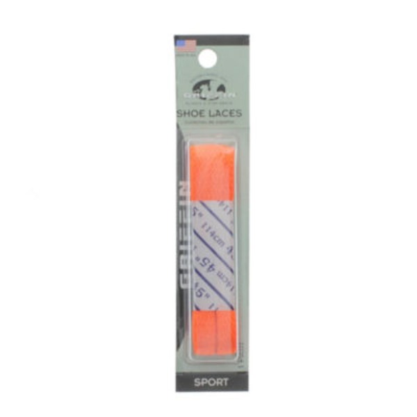 Griffin Flat Shoe Laces, Neon Orange