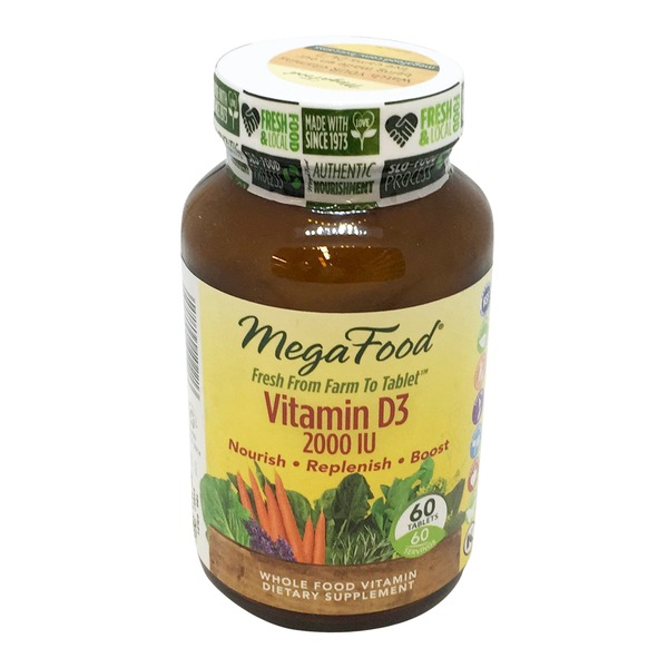 MegaFood Dailyfoods Vitamin D-3 2000 IU 100% Whole Food