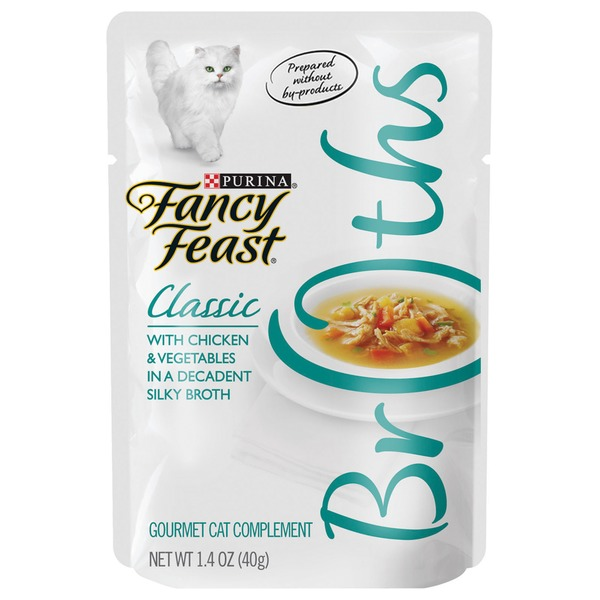Purina Fancy Feast Broths Classic with Chicken & Vegetables Cat Food