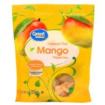 Great Value Sweetened Dried Philippine Mango, 6 oz