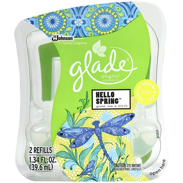 Glade Plug In Scented Oil Hello Spring Green Tea & Birch Scented Oil Refill Freshener